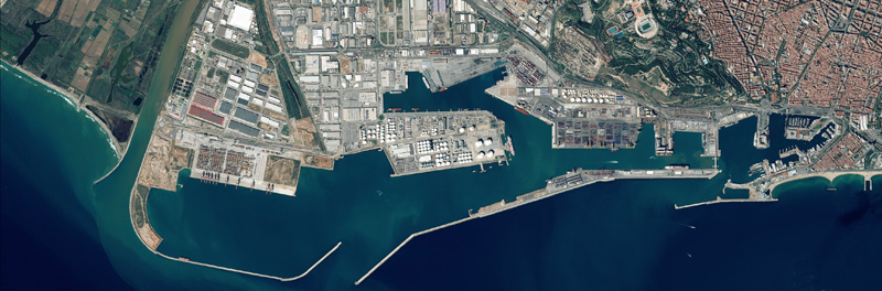 Satellite photo of the Port de Barcelona